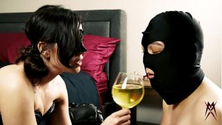 Slave drinks Mistress X's Golden Nectar! Piss Drinking