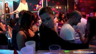 Party chicks have fun in the club